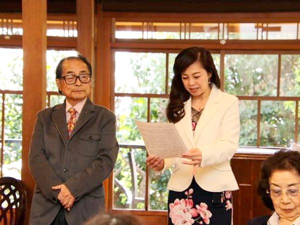 神戸北野ハンター迎賓館で朗読