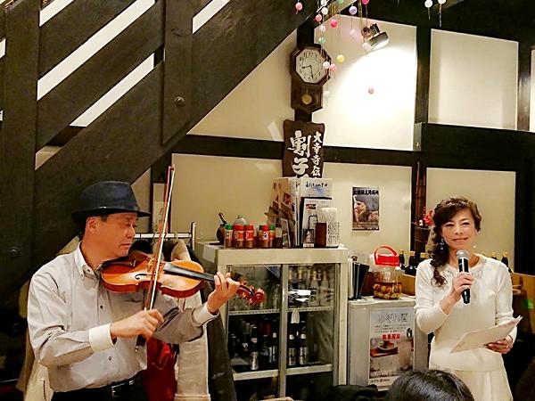 バイオリンと朗読のコラボ
